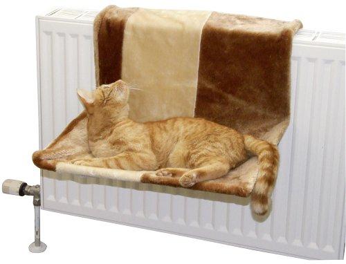 Kerbl Katzenhängematte PARADIES beige/braun, groß, 50 x 35 cm