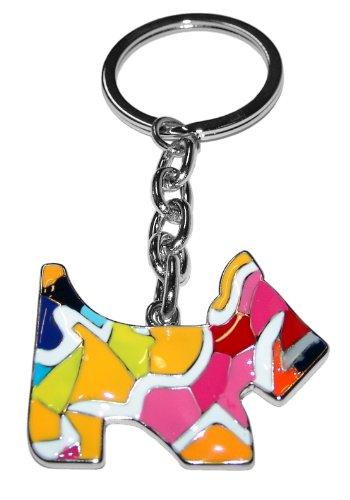 Kaltner Präsente Hund Schlüsselanhänger mit Mosaik