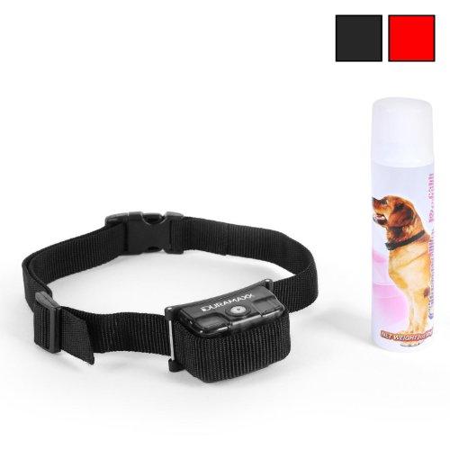 Duramaxx Tyson Hunde-Erziehungshalsband Anti Bell Halsband für Hunde (inkl. Spray, für Hunde ab 6 Monate, automatisch Störungssicher gegen Umweltgeräusche) schwarz