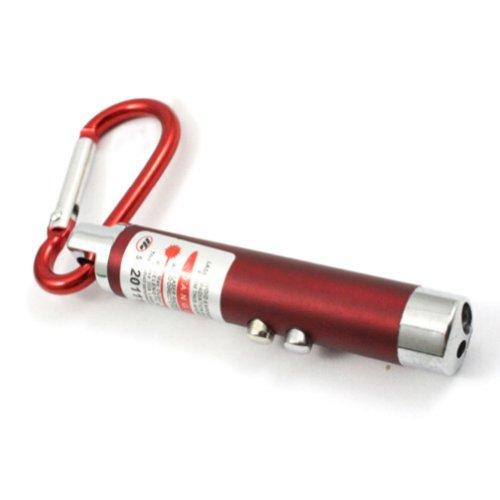 Zehui Laserpointer 3-in-1 Katzenspielzeug und 2 LED Taschenleuchte Taschenlampe Rot