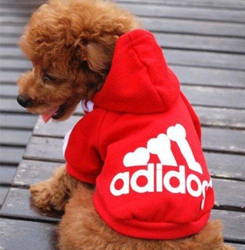Freefisher Hundemantel Adidog Style (ROT, S)