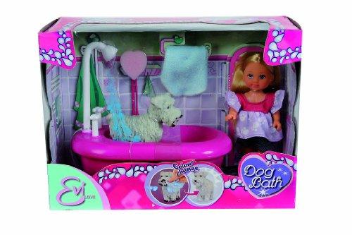 Simba Toys 105733094 – Evi Love Puppe, Hunde Bad